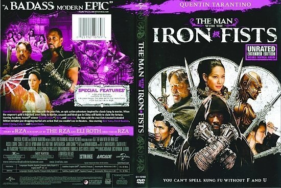 dvd cover The Man With The Iron Fists R1