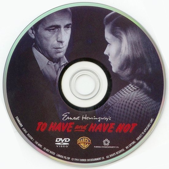 dvd cover To Have and Have Not (1945) FS R1