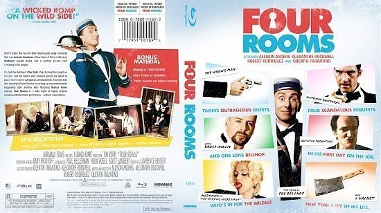 dvd cover Four Rooms Bluray