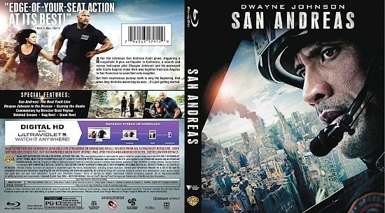 dvd cover San Andreas R1 Blu-Ray