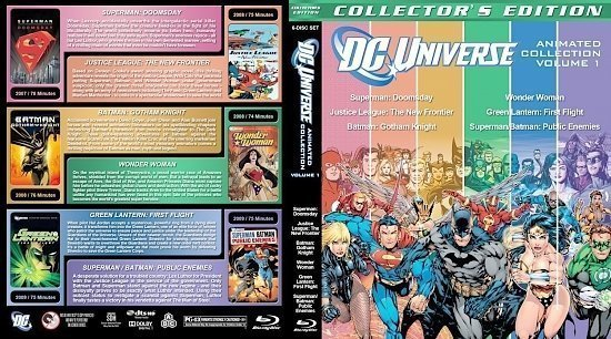 dvd cover DC Animated Collection Volume 1