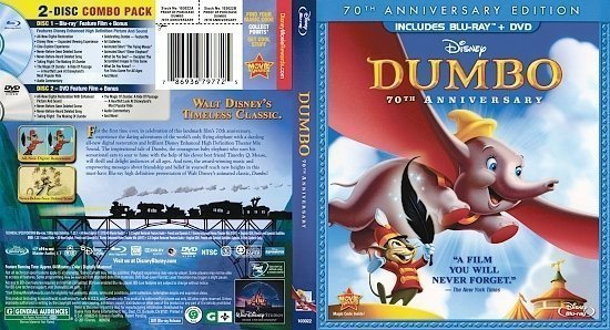 dvd cover Dumbo (1941) R1 Blu-Ray