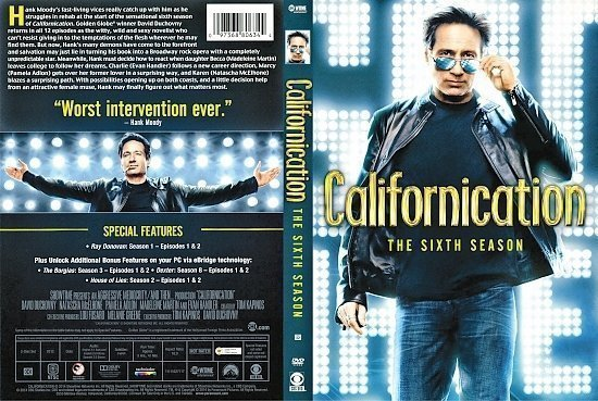 dvd cover Californication: Season 6 R1