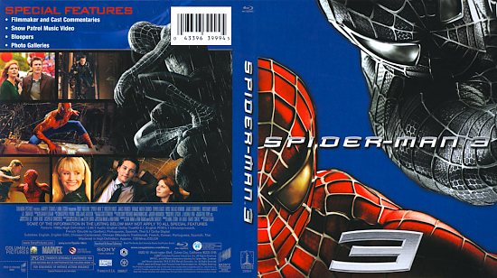 dvd cover Spider Man 3