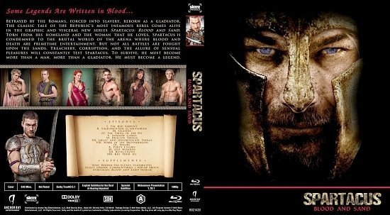 dvd cover Spartacus: Blood And Sand