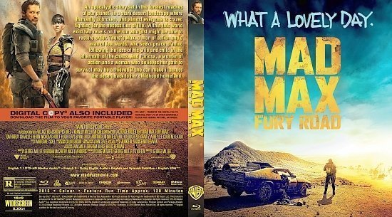 dvd cover Mad Max: Fury Road R0 Blu-Ray & Label