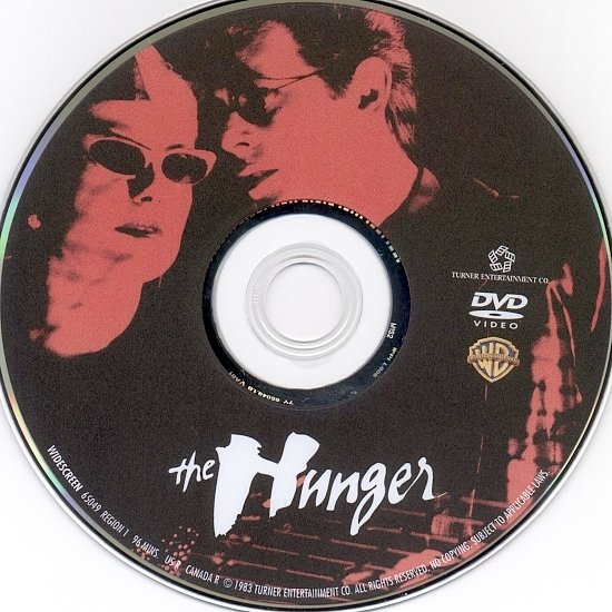 dvd cover The Hunger (1983) WS R1