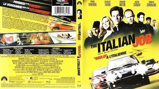dvd cover The Italian Job Un Boulot à l`italienne