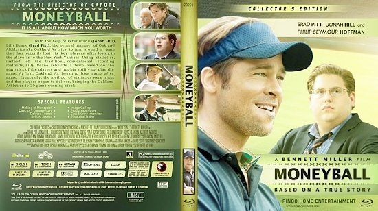dvd cover Copy of Moneyball Blu Ray 2012