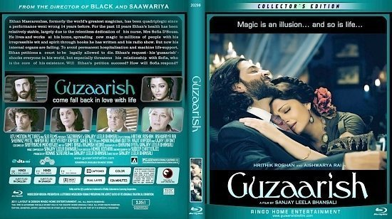 dvd cover Copy of Guzaarish Blu Ray 2012d