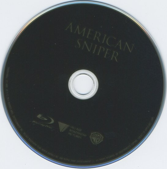 dvd cover American Sniper R1 Blu-Ray & Label