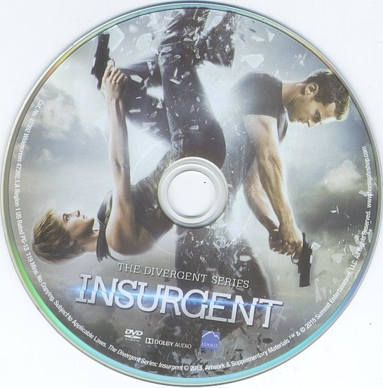 dvd cover Insurgent R1 Blu-Ray