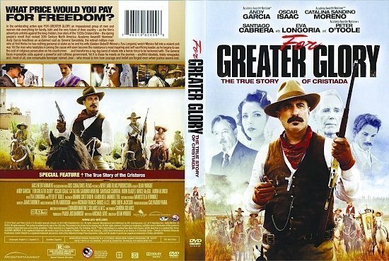 dvd cover For Greater Glory: The True Story of Cristiada WS R1