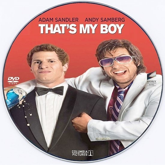 dvd cover That's My Boy - CD Label