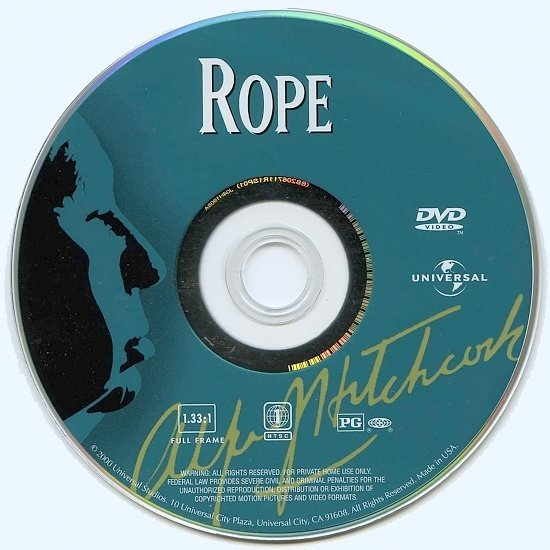 dvd cover Rope (1948) FS R1