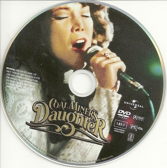 dvd cover Coal Miner's Daughter (1980) AE WS R1