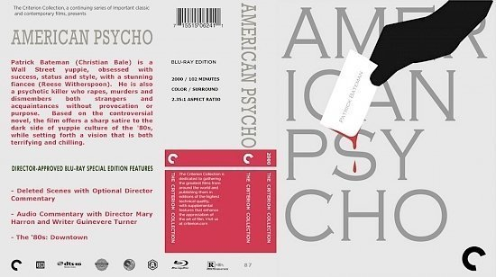 dvd cover American Psycho The Criterion Collection
