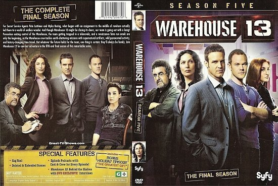 dvd cover Warehouse 13: Season 5 R1