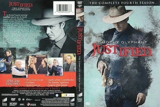 dvd cover Justified: The Complete Fourth Season R1