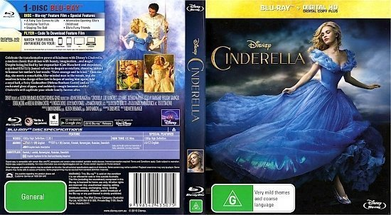 dvd cover Cinderella R4 Blu-Ray