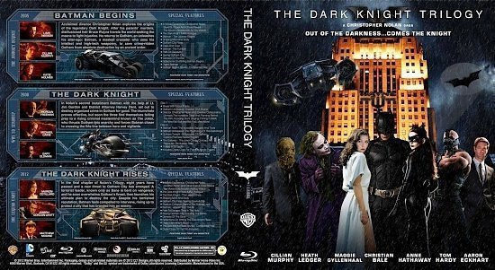 dvd cover The Dark Knight Trilogy