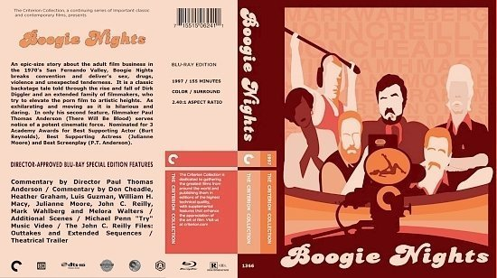 dvd cover Boogie Nights