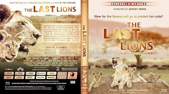dvd cover Copy of The Last Lions Blu Ray 2012
