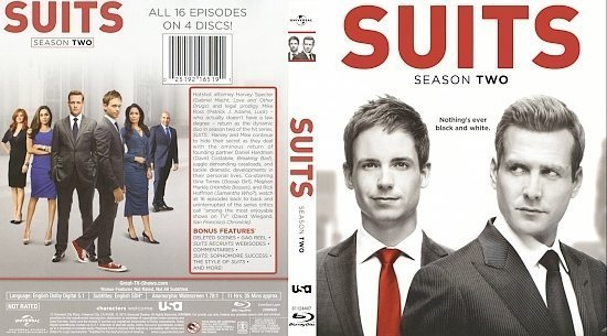 dvd cover Suits: Season 2 R1 Blu-Ray