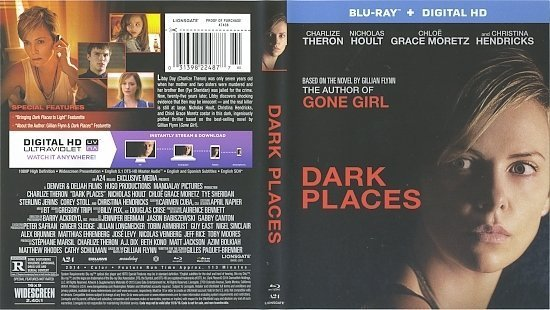 dvd cover Dark Places R1 Blu-Ray & Label