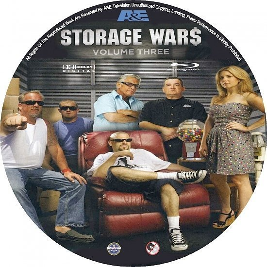 dvd cover Storage Wars: Seasons 1-2-3 Custom dvd/blu-ray labels