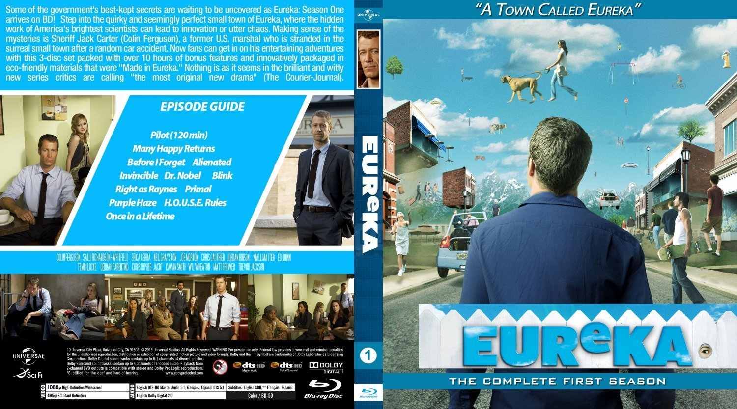 Eureka Season1 BD v1 | Dvd Covers and Labels