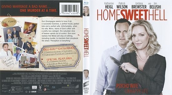 dvd cover Home Sweet Hell Blu-Ray & Label