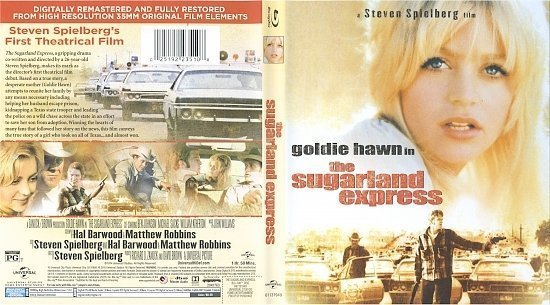 dvd cover The Sugarland Express (1974) Blu-Ray & Label