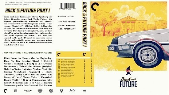 dvd cover Back To The Future 1