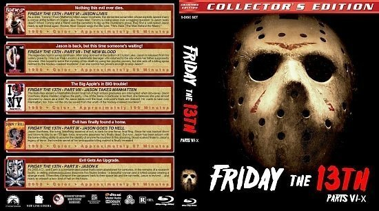 dvd cover Friday the 13th : Parts 6 10