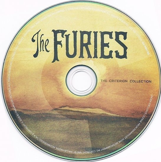 dvd cover The Furies (1950) FS R1