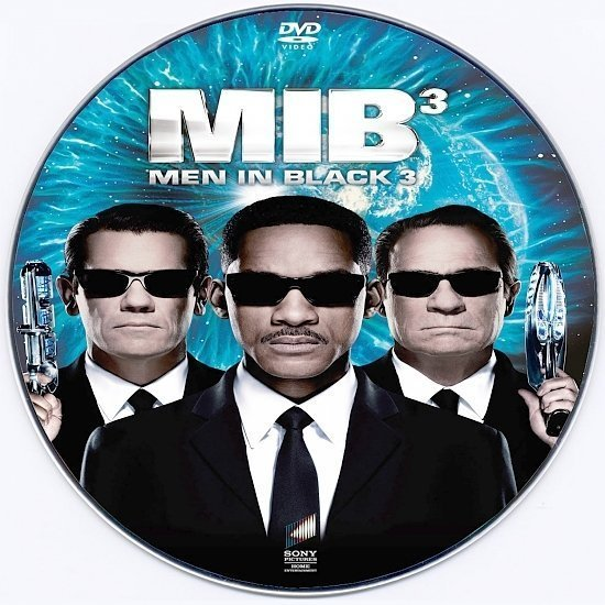 dvd cover Men In Black 3 R0 Custom DVD Label