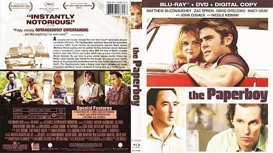 dvd cover The Paperboy