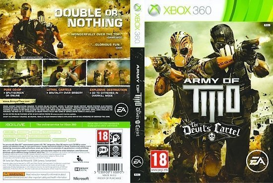 dvd cover Army of Two: The Devil's Cartel PAL