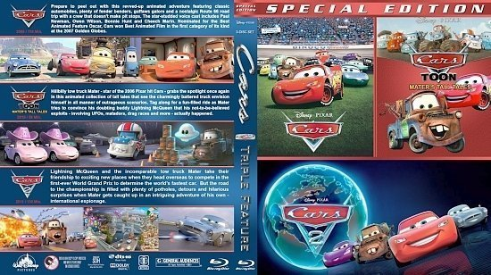 dvd cover Cars Triple 12mm