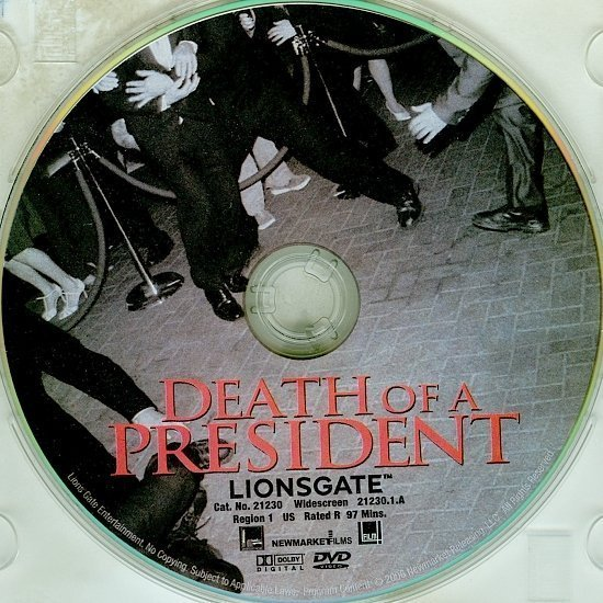 dvd cover Death Of A President (2006) R1