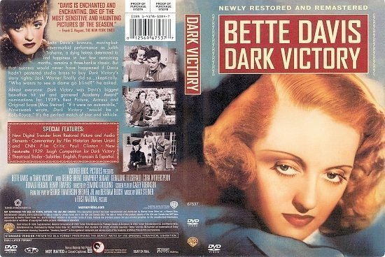 dvd cover Dark Victory (1939) FS R1