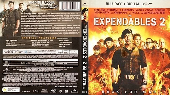 dvd cover The Expendables 2 Back For War