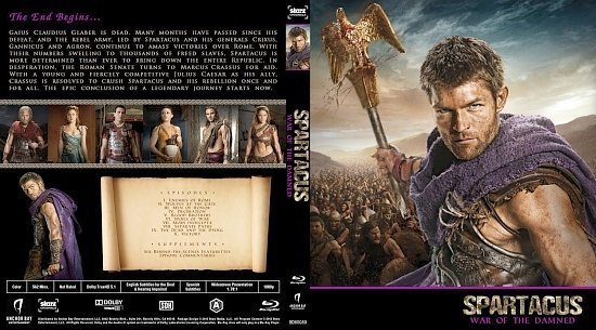 dvd cover Spartacus: War Of The Damned