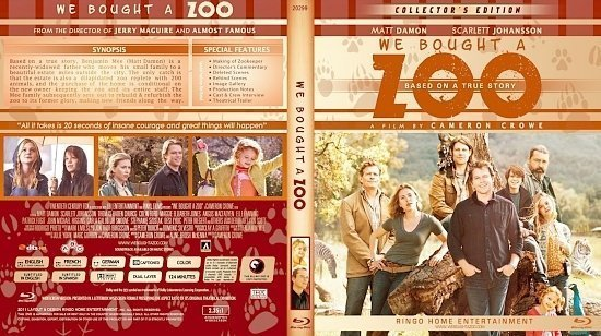 dvd cover Copy of We Bought A Zoo Blu Ray 2012