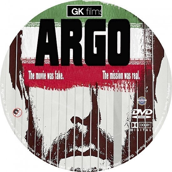 dvd cover Argo R0 Custom Blu-Ray/DVD Labels