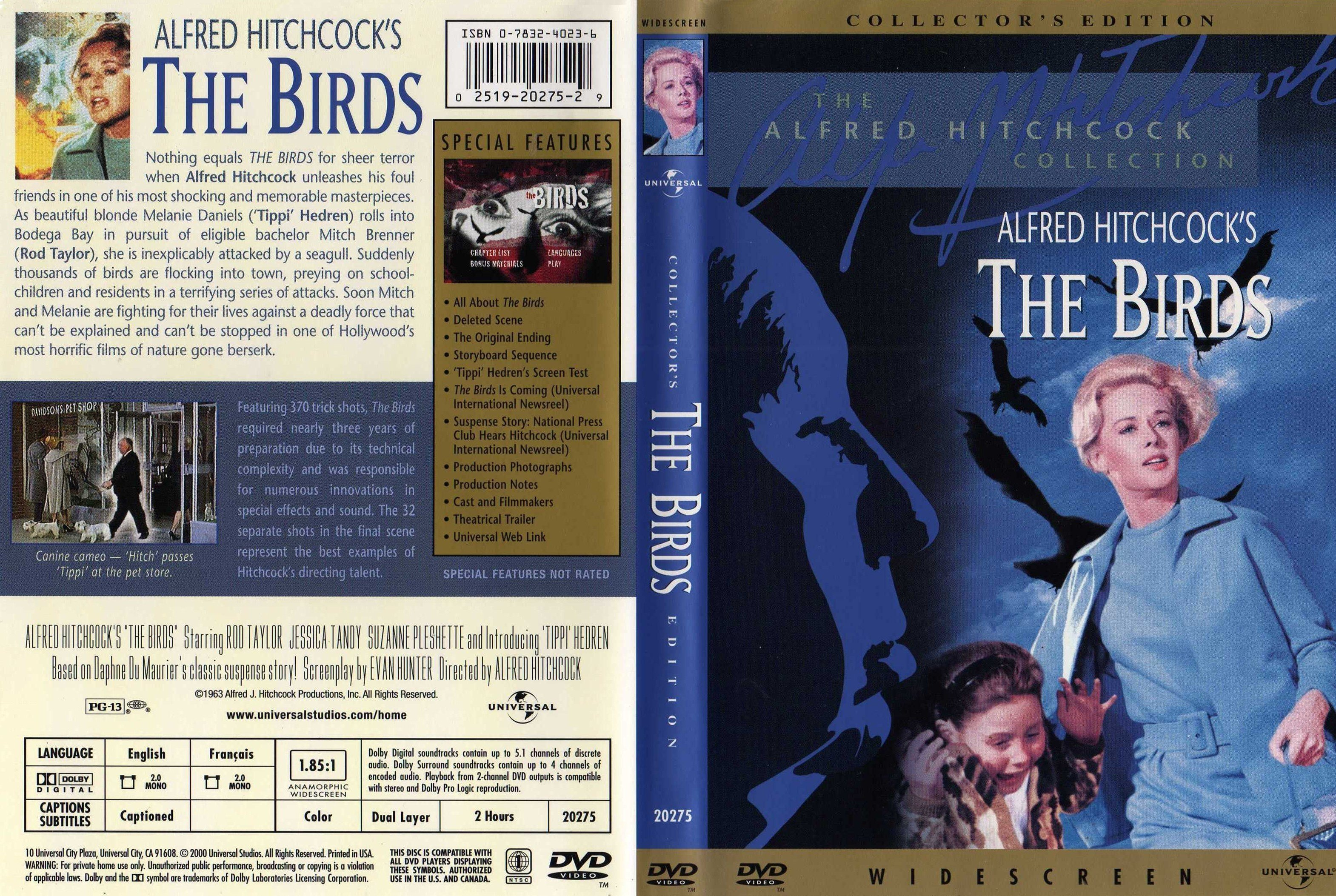 the rare technique used in the birds by alfred hitchcock