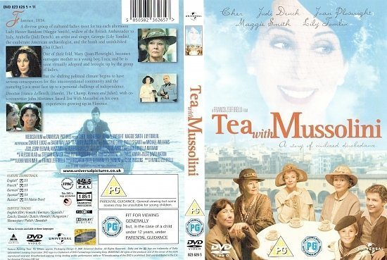 dvd cover Tea with Mussolini (1999) WS R2