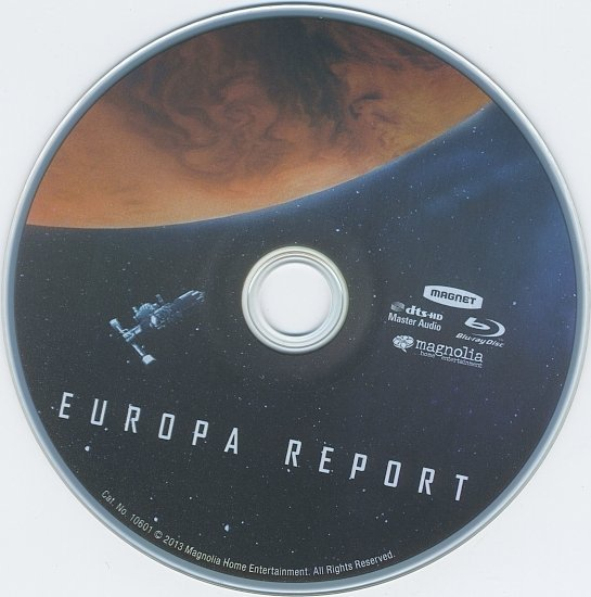 dvd cover Europa Report R1 Blu-Ray & Label