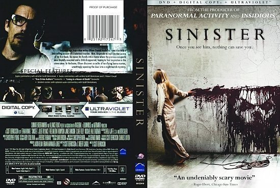 dvd cover Sinister R1